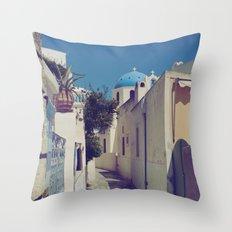 Santorini Walkway Throw Pillow