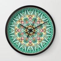Sea Angel Kaleidoscope Wall Clock