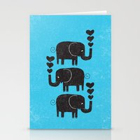 elephants Stationery Cards featuring ELEPHANTS by Matthew Taylor Wilson