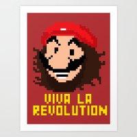 viva la revolution Art Print