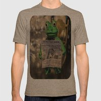 Froggy Reads The Wall St… Mens Fitted Tee Tri-Coffee SMALL