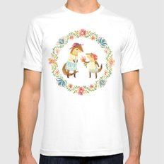 Otterly Grateful Mens Fitted Tee White SMALL