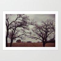Lonely Barn. Art Print