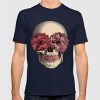 Flower Eyes Mens Fitted Tee Navy SMALL