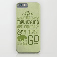 Mountains Are Calling in Green iPhone 6 Slim Case