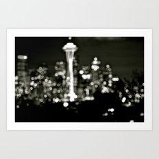 Seattle Bokeh Art Print