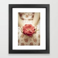 Rose In Her Hands III Framed Art Print