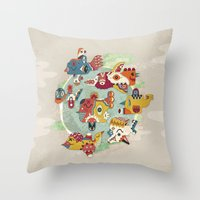 The other side of another sun Throw Pillow