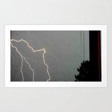 A Spark of Lightning Art Print