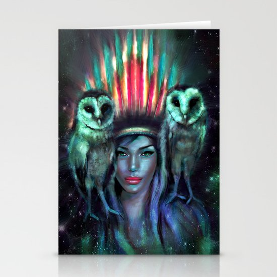 Owls Stationery Card