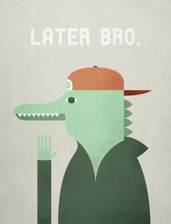 Later Gator Art Print