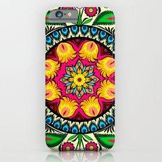 folk flowers collage Slim Case iPhone 6s