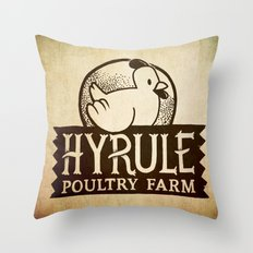 Hyrule Poultry Farms Throw Pillow
