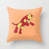 The Invincible IronCat Throw Pillow