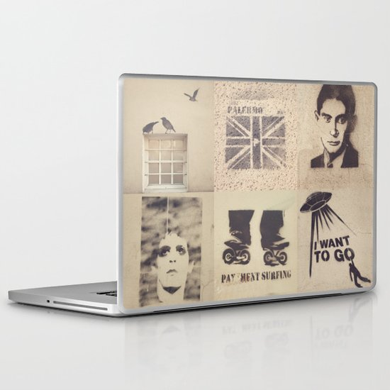Birds, Palermo, Kafka, Lou Reed, Surfing, I want to go, No tengo mas que el sol, Tango and Love.  Laptop & iPad Skin