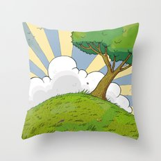 I want to be there Throw Pillow