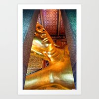 The Reclining Buddha Of … Art Print