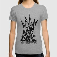 Take The Pain Away Womens Fitted Tee Athletic Grey SMALL