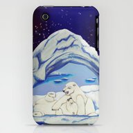 Peaceful Polar Bears iPhone (3g, 3gs) Slim Case