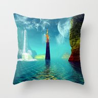 Fantasy Landscape Throw Pillow