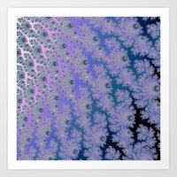 Smokey Blues Fractal Art Print
