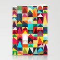 Abstract Geometric Mountains Stationery Cards