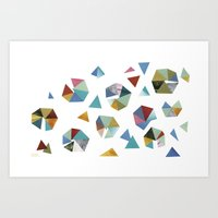 Color Hexagons Art Print