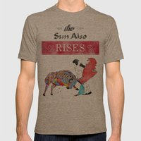 The Sun Also Rises Mens Fitted Tee Tri-Coffee SMALL