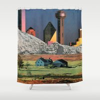 Homestead Blues Shower Curtain