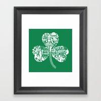Dynasty-Green Framed Art Print