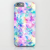 iPhone Cases featuring Pineapple Dream by Schatzi Brown