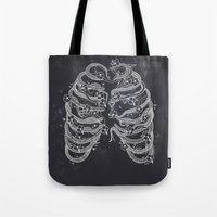 A swarm of bees living inside me Tote Bag