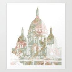 Paris on a hill Art Print