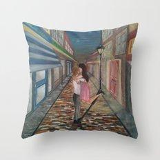 A Kiss in Paris Throw Pillow