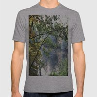 Autumn Pond Mens Fitted Tee Athletic Grey SMALL