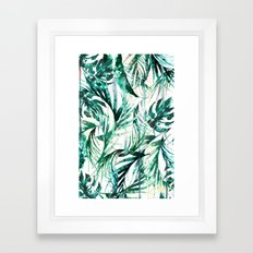 Green Tropical Paradise  Framed Art Print