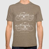 Motorcycle blueprint Mens Fitted Tee Tri-Coffee SMALL