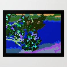Sakura pixel Art Print
