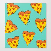 Pizza Love Canvas Print