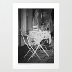 ... walking by ... Art Print