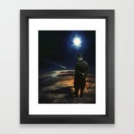 Framed Art Print featuring Shooting Star by TRASH RIOT