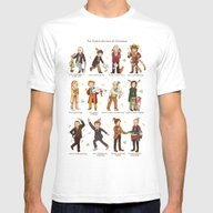 The Twelve Doctors Of Ch… Mens Fitted Tee White SMALL