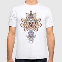 Flowering Heart Mens Fitted Tee Ash Grey SMALL