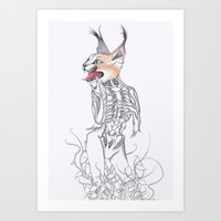 Half Man Half Caracal Art Print