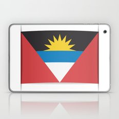 Flag of Antigua and Barbuda.  The slit in the paper with shadows.  Laptop & iPad Skin