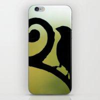 Bird On The Ironwork iPhone & iPod Skin