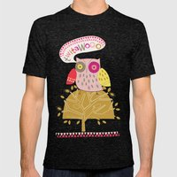 Birds and Blooms 4 Mens Fitted Tee Tri-Black SMALL