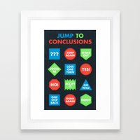 It's a Jump to Conclusions Mat Framed Art Print