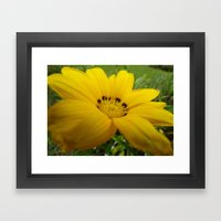 Yellow Feeling Framed Art Print