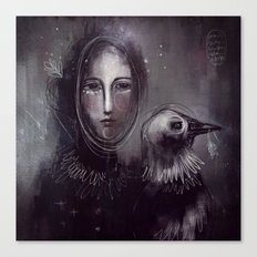 Lady Crow Canvas Print